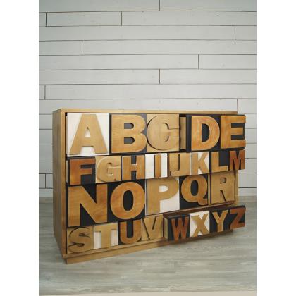Комод «Alphabeto Birch» 10 ящиков