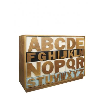 "Комод ""Alphabeto Birch"" темный"