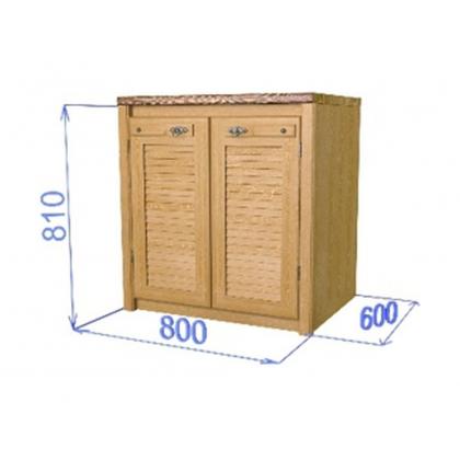 "Шкаф-стол с двумя дверцами ""Хлоя КХ 01"" (800)"