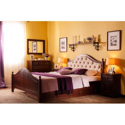 Кровать Кая 2 мягкая с ящиками