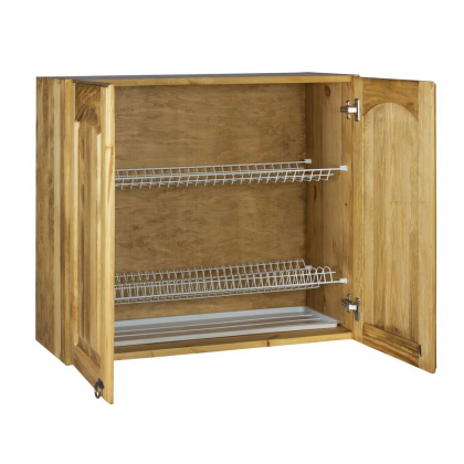 Шкаф настенный (600 мм) с 2-мя дверями «Викинг GL»  с сушкой (двери стекло)