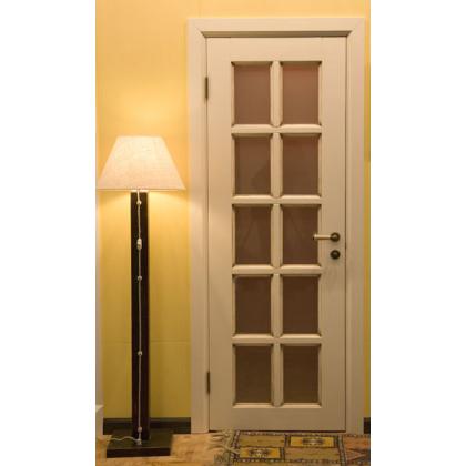 """Дверь из бессучковой сосны модель """"Шоколадка"""""""