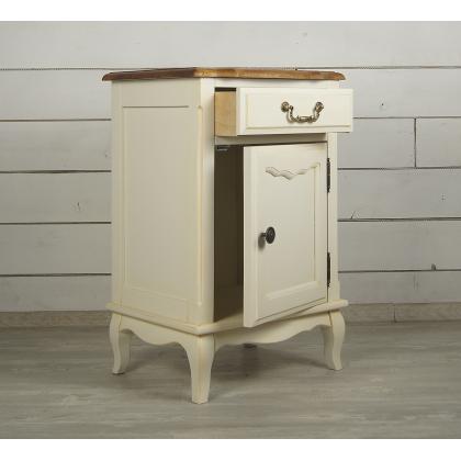 Прикроватная тумба Leontina с ящиком и дверцей