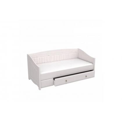 Кровать-диван Милано с выкатным ящиком 90х200 белый воск