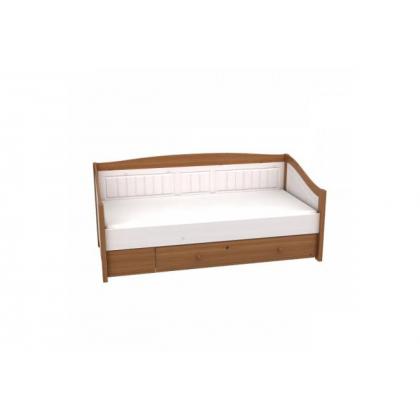 Кровать-диван Милано с выкатным ящиком 90х200 белый воск/антик (ящик белый)