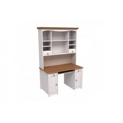 Надстройка стола Милано белый воск/антик