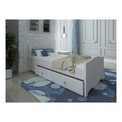 Кровать Милано без ящика 90х200 белый воск