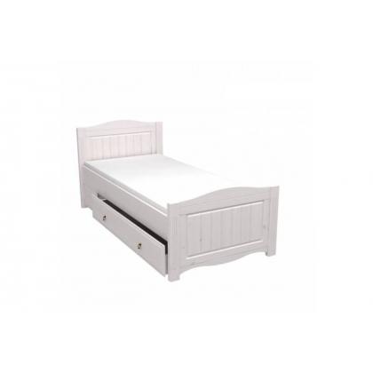 Кровать Милано с выкатным ящиком 90х200 белый воск