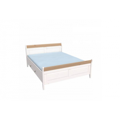 Кровать Бейли с ящиками 180х200 белый воск/антик