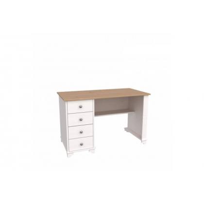 Стол письменный с ящиками Бейли белый воск/антик
