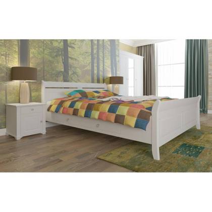 Кровать Бейли с ящиками 160х200 белый воск