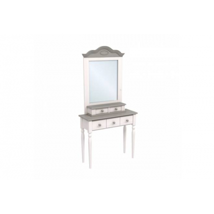 Стол туалетный Консолеа белый воск/антрацит