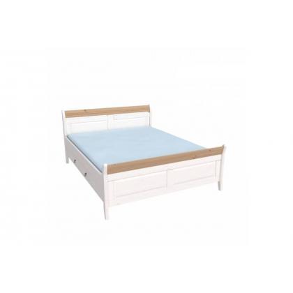 Кровать Бейли с ящиками 160х200 белый воск/антик