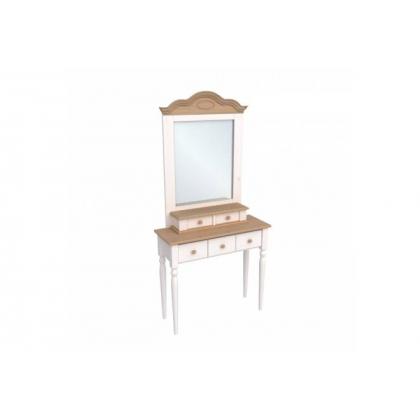Стол туалетный Консолеа белый воск/антик