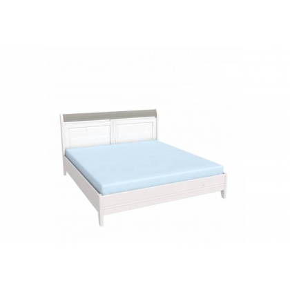 Кровать Бейли без изножья 180х200 белый воск/антрацит