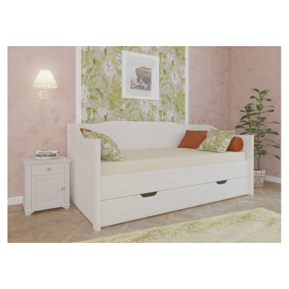 Кровать-диван Бейли с выдвижными ящиками 90х200 белый воск