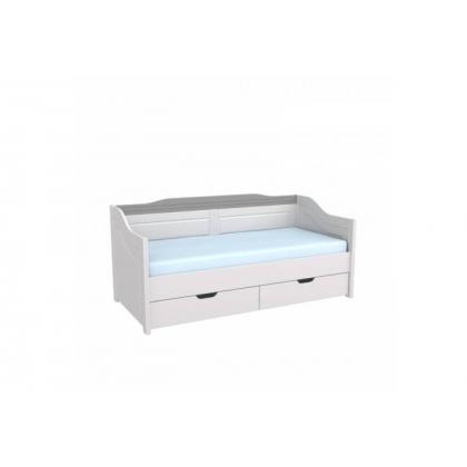 Кровать-диван Бейли с выдвижными ящиками 90х200 белый воск/антрацит