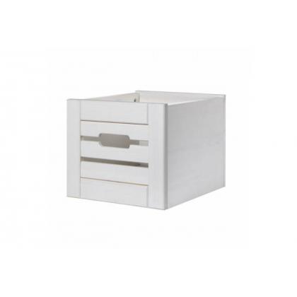 Ящик для шкафа (стеллажа) Бели белый воск
