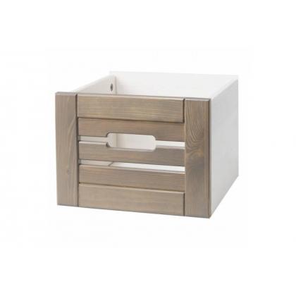 Ящик для шкафа (стеллажа) Бели белый воск/антрацит