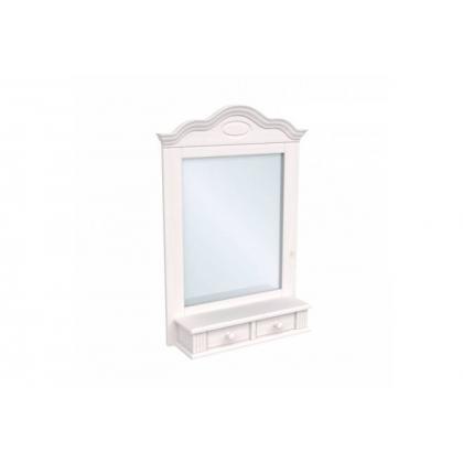 Зеркало Синди белый воск