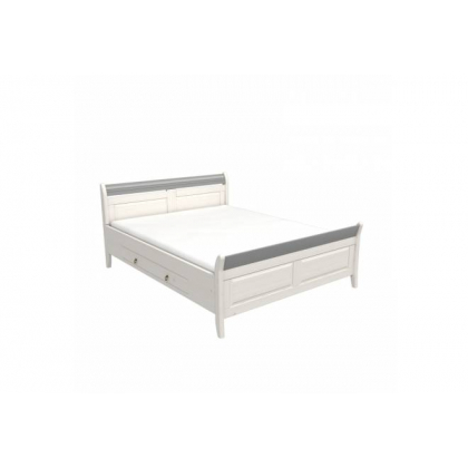 Кровать Бейли с ящиками 180х200 белый воск/антрацит