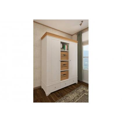Ящик для шкафа (стеллажа) Бели белый воск/антик