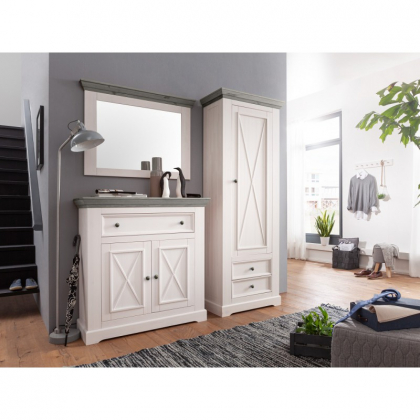 Шкаф для одежды Форест 1 дверь 2 ящика белый воск/антрацит