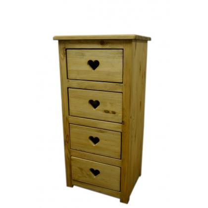 Шифоньер 4 ящика CHIF 4T Coeur  с сердцем