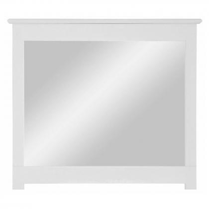 """Зеркало навесное в раме """"Рауна"""" (белый воск УКВ)"""
