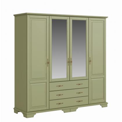 Шкаф 4-х створчатый с ящиками (Брусно)
