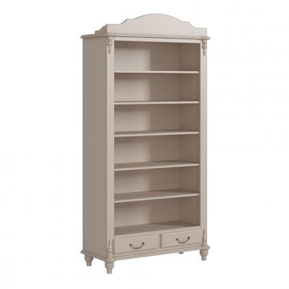 Шкаф-витрина открытый с 2 ящиками высокий (Скандия)