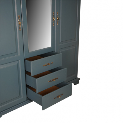 Шкаф 3-х створчатый с ящиками и зеркалом (Брусно)