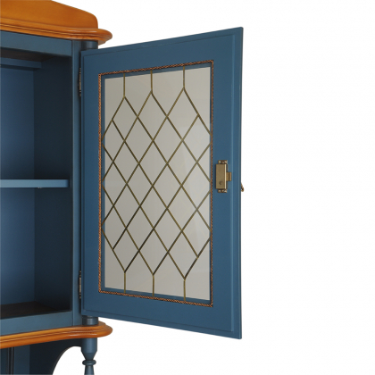 Шкаф-витрина 2-х створчатый высокий (Скандия)