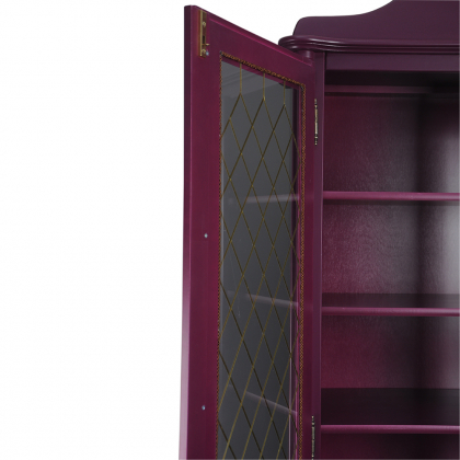 Шкаф-витрина 2-х створчатый с 2 ящиками высокий (Скандия)