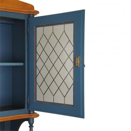 Шкаф-витрина 2-х створчатый с 2 ящиками (Скандия)