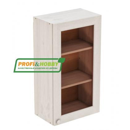 Шкаф навесной 500 х 300 х 900 под стекло, сосна, бесцветный лак