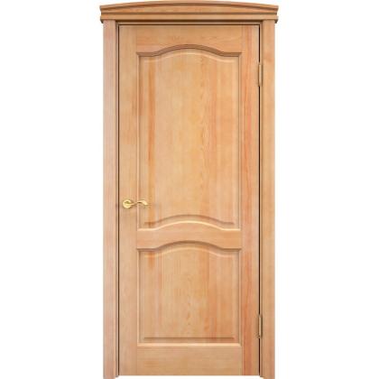 Межкомнатная дверь модель М7, глухая, цвет 5% орех, массив сосны
