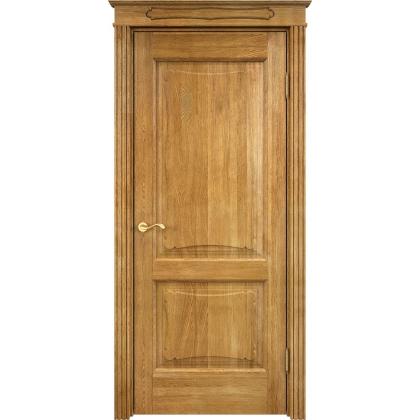 Межкомнатная дверь Д6/2, глухая - цвет 5% орех - массив дуба