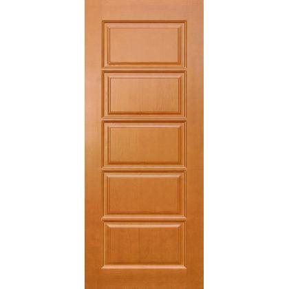 Межкомнатная дверь Лесенка М9, глухая, цвет 10% орех, массив сосны