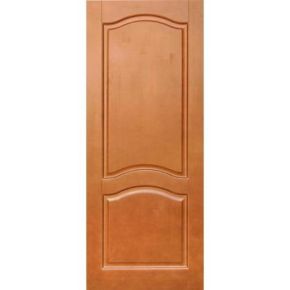 Межкомнатная дверь Романтика М7, глухая, цвет 10% орех, массив сосны