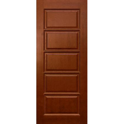 Межкомнатная дверь Лесенка М9, глухая, цвет 15% орех, массив сосны
