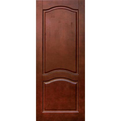 Межкомнатная дверь Романтика М7, глухая, цвет 15% орех, массив сосны