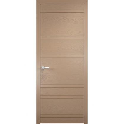 Межкомнатная дверь Line 1, глухая - цвет RAL 1019 - массив дуба и ольхи