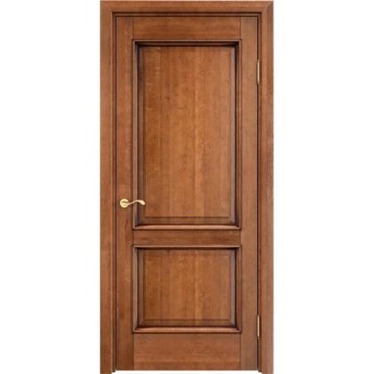 Межкомнатная дверь ОЛ. 13, глухая - цвет 10% орех с патиной- массив ольхи
