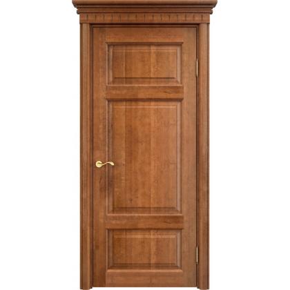 Межкомнатная дверь ОЛ. 55, глухая - цвет 10% орех - массив ольхи