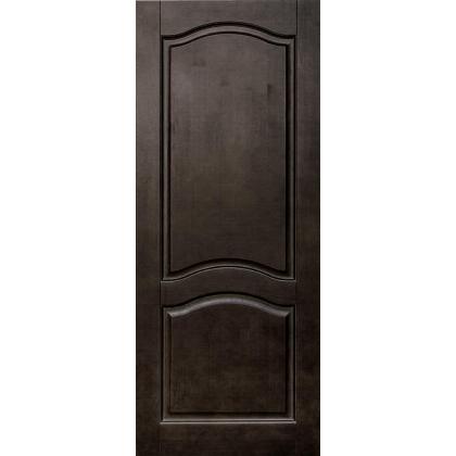 Межкомнатная дверь Романтика М7, глухая, цвет Венге, массив сосны