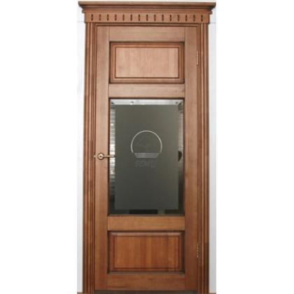 Межкомнатная дверь ОЛ. М55/1, с остеклением, массив ольхи