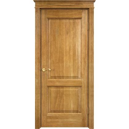 Межкомнатная дверь Д13 из светлого дуба глухая - цвет 5% орех