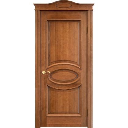 Межкомнатная дверь ОЛ. 26, глухая - цвет 10% орех - массив ольхи