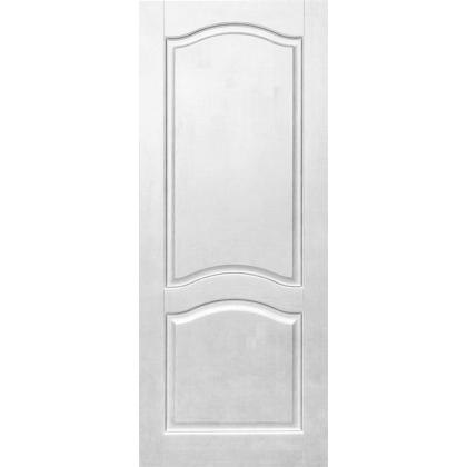 Межкомнатная дверь Романтика М7, глухая, цвет Белый, массив сосны